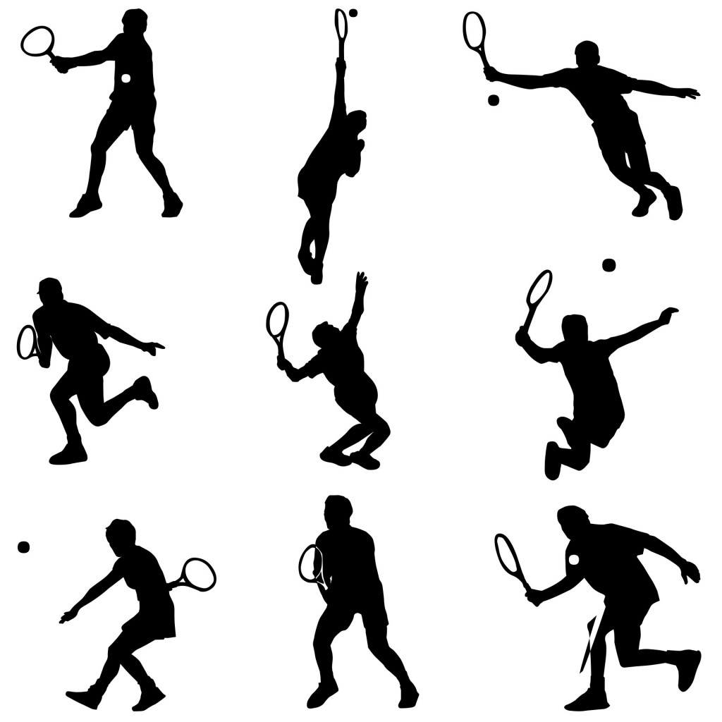 tennis-silhouettes