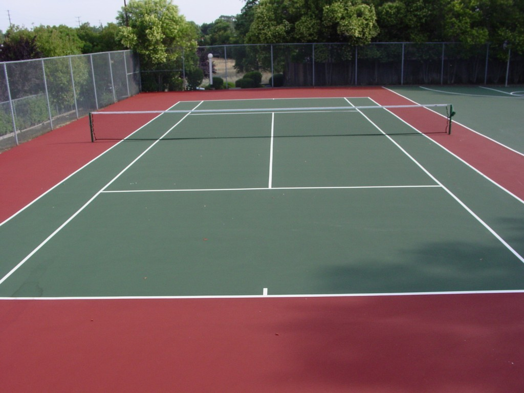 outdoor tennis court